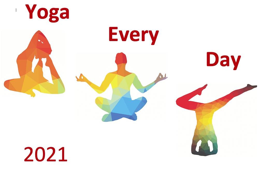 calendar image yoga every day